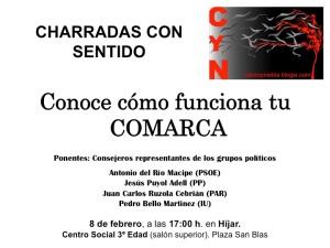Cartel charrada comarca
